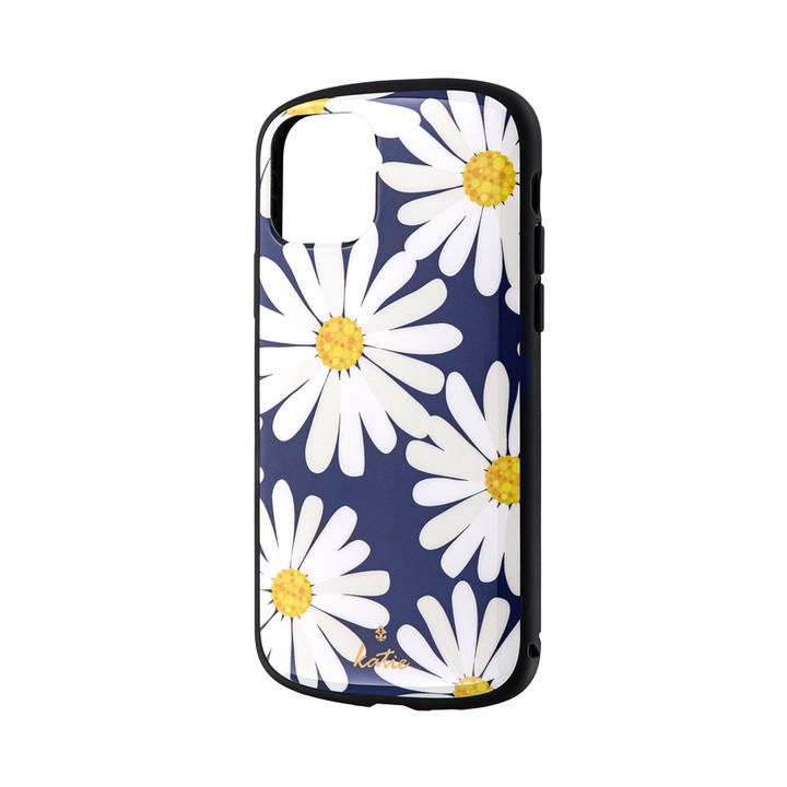 iPhone 11 Pro ケース 超軽量・極薄・耐衝撃ハイブリッドケース「PALLET Katie」 マーガレットネイビー iPhone 11 Pro_0