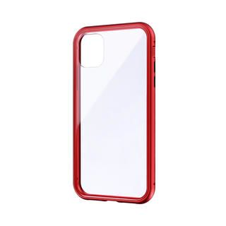 iPhone 11 ケース ガラス&アルミケース「SHELL GLASS Aluminum」 レッド iPhone 11【9月中旬】