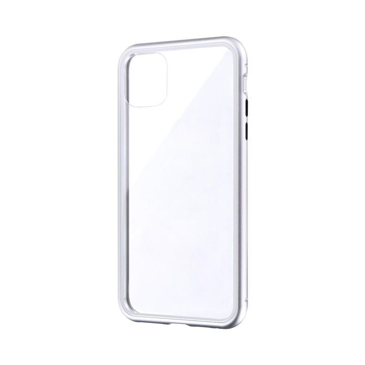 iPhone 11 Pro Max ケース ガラス&アルミケース「SHELL GLASS Aluminum」 シルバー iPhone 11 Pro Max_0