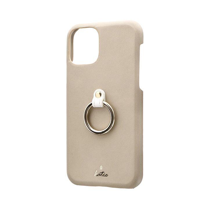 リング付PUレザーシェルケース「SHELL RING Katie」 ベージュ iPhone 11 Pro【9月中旬】_0