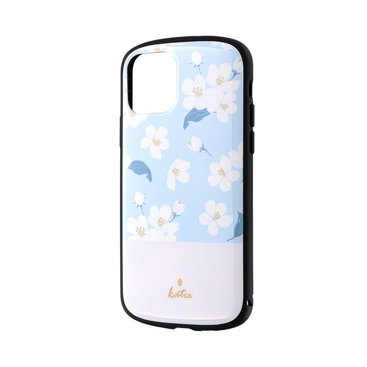 iPhone 11 Pro ケース 超軽量・極薄・耐衝撃ハイブリッドケース「PALLET Katie」 フラワーサックス iPhone 11 Pro_0