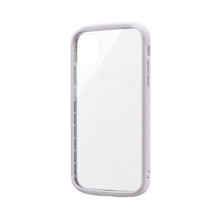 iPhone 11 ケース 耐衝撃ガラスハイブリッドケース「PALLET GLASS」 ライトグレー iPhone 11_0