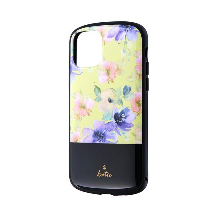 超軽量・極薄・耐衝撃ハイブリッドケース「PALLET Katie」 フラワーイエロー iPhone 11 Pro【9月中旬】_0