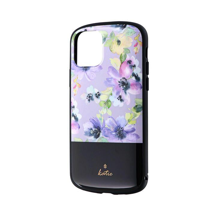 iPhone 11 Pro ケース 超軽量・極薄・耐衝撃ハイブリッドケース「PALLET Katie」 フラワーパープル iPhone 11 Pro_0