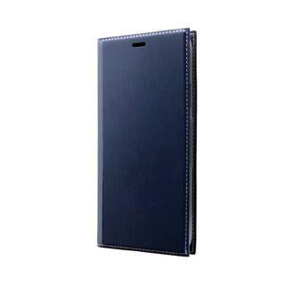 iPhone 11 Pro Max ケース 薄型PUレザーフラップケース「PRIME」 ネイビー iPhone 11 Pro Max