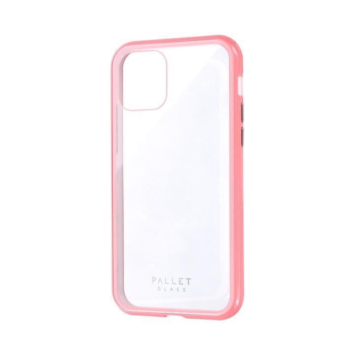 ガラスハイブリッドケース「SHELL GLASS COLOR」 クリアピンク iPhone 11 Pro【9月中旬】_0