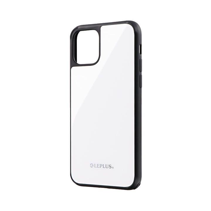背面ガラスシェルケース「SHELL GLASS」 ホワイト iPhone 11 Pro【9月中旬】_0