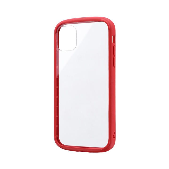 iPhone 11 ケース 耐衝撃ガラスハイブリッドケース「PALLET GLASS」 レッド iPhone 11_0