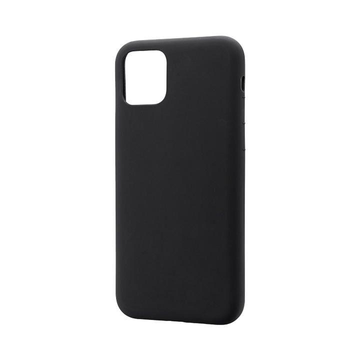 シンプルソフトケース「SMOOTH」 ブラック iPhone 11 Pro【9月中旬】_0