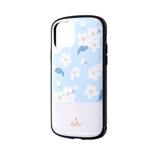 iPhone 11 Pro ケース 超軽量・極薄・耐衝撃ハイブリッドケース「PALLET Katie」 フラワーサックス iPhone 11 Pro