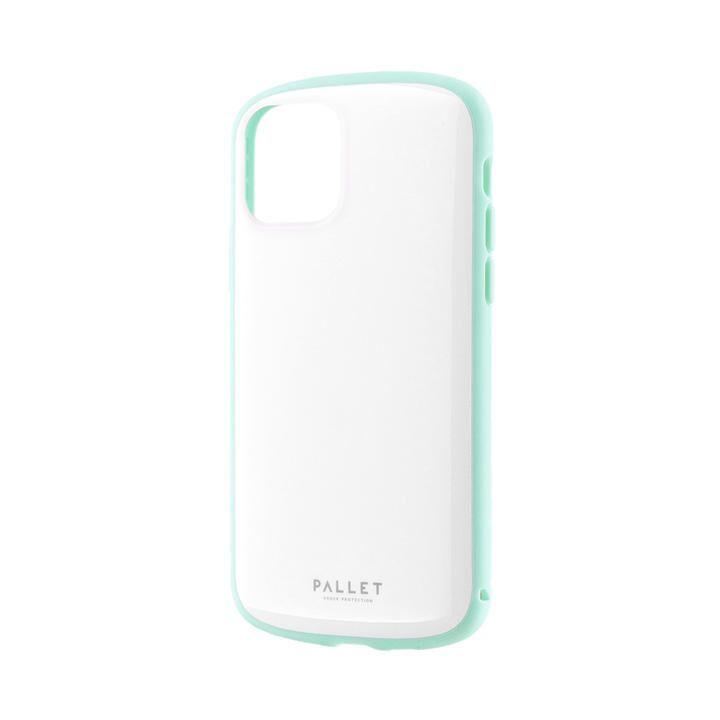 超軽量・極薄・耐衝撃ハイブリッドケース「PALLET AIR」 ホワイトミント iPhone 11 Pro【9月中旬】_0
