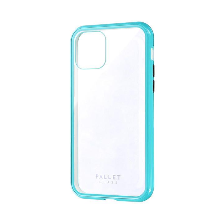 ガラスハイブリッドケース「SHELL GLASS COLOR」 クリアミントグリーン iPhone 11 Pro【9月中旬】_0