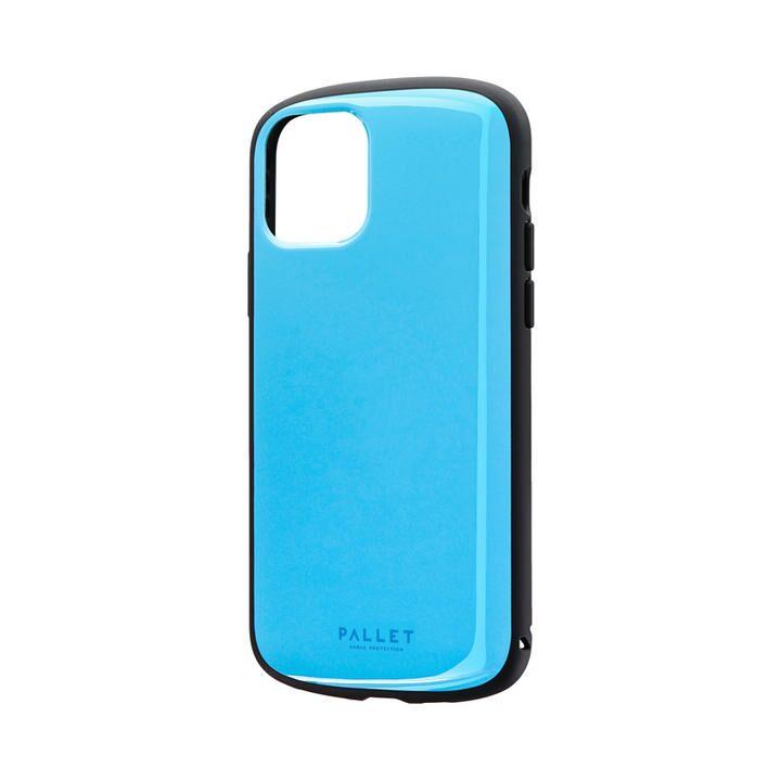 超軽量・極薄・耐衝撃ハイブリッドケース「PALLET AIR」 スカイブルー iPhone 11 Pro【9月中旬】_0