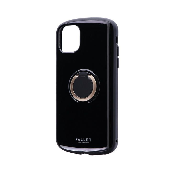 iPhone 11 ケース 耐衝撃リング付ハイブリッドケース「PALLET RING」 ブラック iPhone 11_0