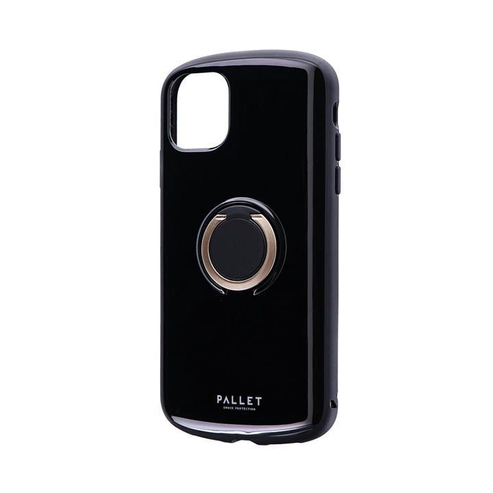 耐衝撃リング付ハイブリッドケース「PALLET RING」 ブラック iPhone 11【9月中旬】_0