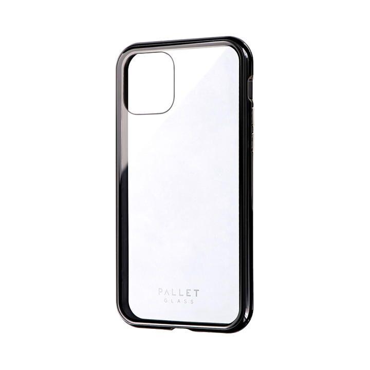 iPhone 11 Pro ケース ガラスハイブリッドケース「SHELL GLASS COLOR」 クリアブラック iPhone 11 Pro_0