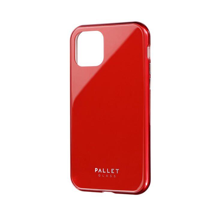 ガラスハイブリッドケース「SHELL GLASS COLOR」 レッド iPhone 11 Pro【9月中旬】_0
