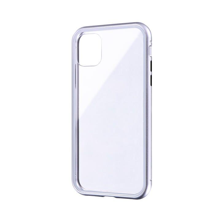 ガラス&アルミケース「SHELL GLASS Aluminum」 シルバー iPhone 11【9月中旬】_0