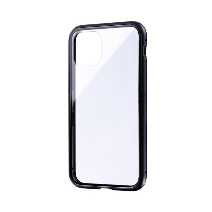 ガラス&アルミケース「SHELL GLASS Aluminum」 ブラック iPhone 11 Pro【9月中旬】_0