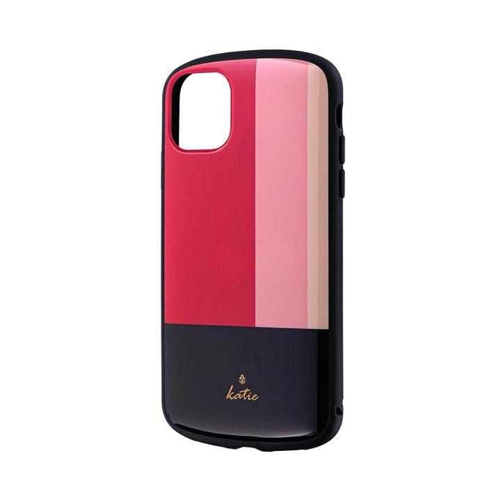 iPhone 11 ケース 超軽量・極薄・耐衝撃ハイブリッドケース「PALLET Katie」 トリコロールピンク iPhone 11_0