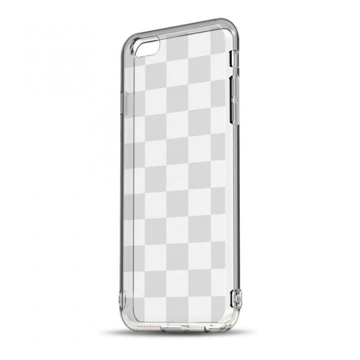 ソフトTPUケース ストラップホール&保護キャップ付き(チェッカード) iPhone 6ケース
