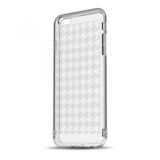 ソフトTPUケース ストラップホール&保護キャップ付き(ハウンズトゥース) iPhone 6ケース