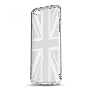 ソフトTPUケース ストラップホール&保護キャップ付き(ユニオンジャック) iPhone 6s/6ケース