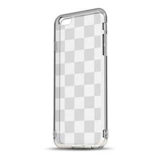 ソフトTPUケース ストラップホール&保護キャップ付き(チェッカード) iPhone 6 Plusケース