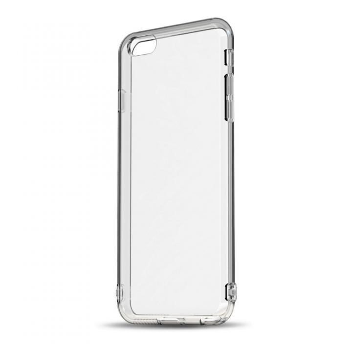 ソフトTPUケース ストラップホール&保護キャップ付き(クリア) iPhone 6 Plus