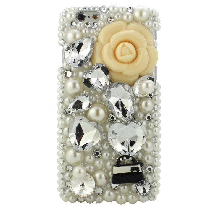 ストーンデコレーションケース マリアン(ホワイト) iPhone 6ケース
