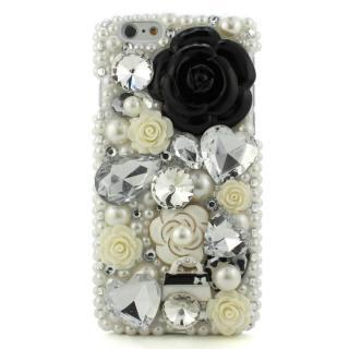 ストーンデコレーションケース マリアン(ブラック) iPhone 6s/6ケース