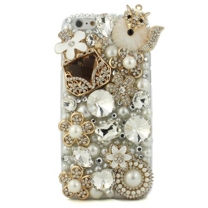 iPhone6s/6 ケース ストーンデコレーションケース キツネの舞 iPhone 6s/6ケース_0