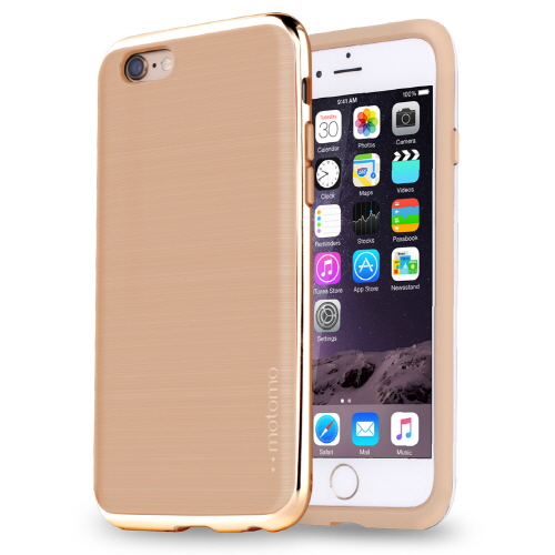 【iPhone6s/6ケース】TPUケース INFINITY クロム ベージュゴールド iPhone 6s/6_0