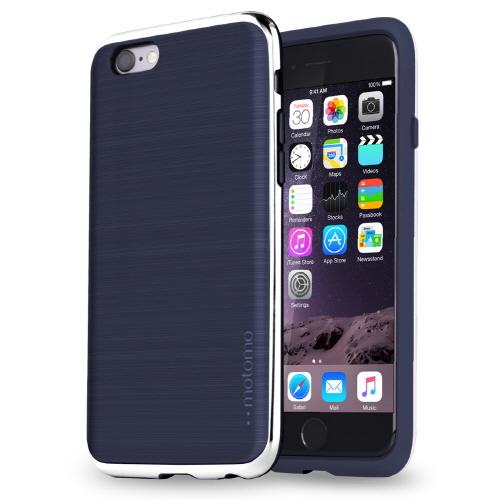 【iPhone6s/6ケース】TPUケース INFINITY クロム ネイビーシルバー iPhone 6s/6_0