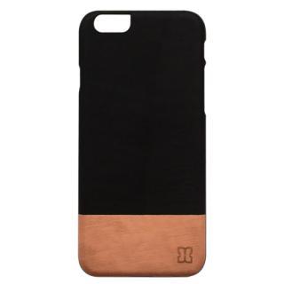 天然木ケース ブラックフレーム 黒猫の肉球 iPhone 6s/6