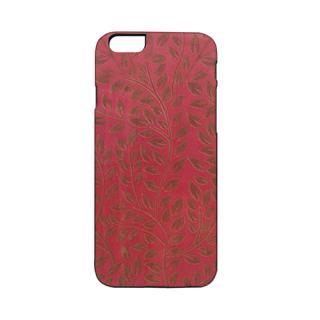 iPhone6s/6 ケース 天然木ケース ブラックフレーム 椿 iPhone 6s/6
