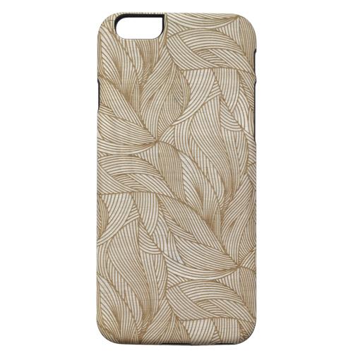 iPhone6s/6 ケース 天然木ケース ブラックフレーム 葉っぱ iPhone 6s/6_0