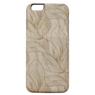 【iPhone6s/6ケース】天然木ケース ブラックフレーム 葉っぱ iPhone 6s/6