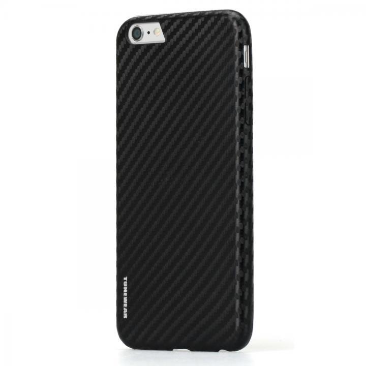【iPhone6s Plusケース】TUNEWEAR CarbonLook ブラック iPhone 6s Plus/6 Plus_0