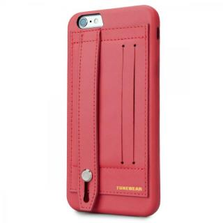 持ちやすくなるハンドル搭載 PUレザーケース レッド iPhone 6s Plus/6 Plus
