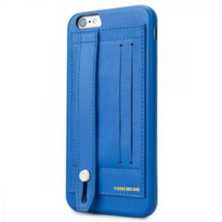 持ちやすくなるハンドル搭載 PUレザーケース ブルー iPhone 6s Plus/6 Plus