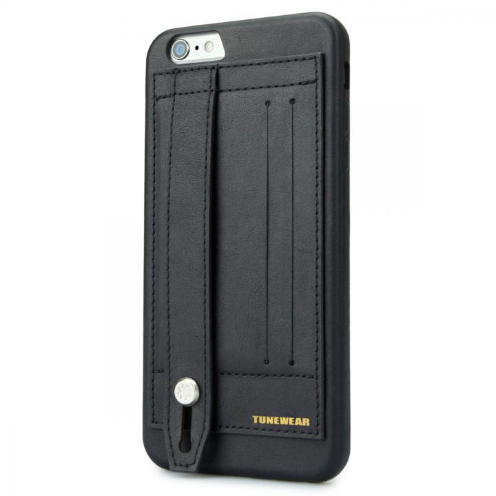 持ちやすくなるハンドル搭載 PUレザーケース ブラック iPhone 6s Plus/6 Plus