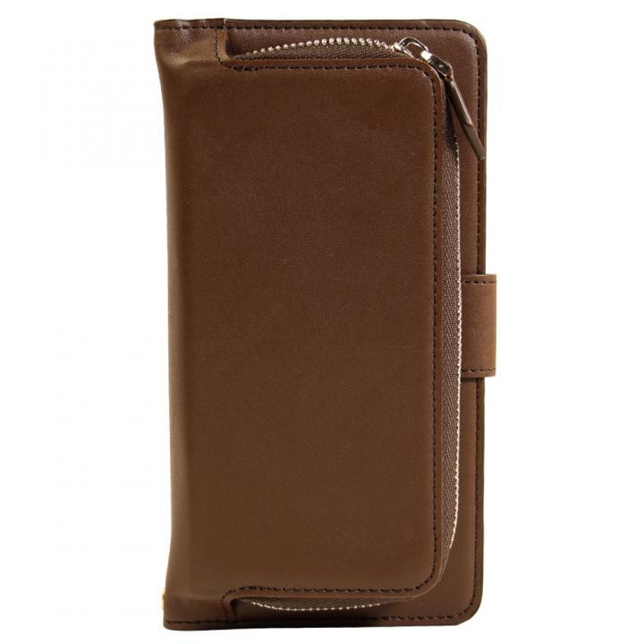 コインケース付 手帳型PUケース ブラウン iPhone 6s Plus