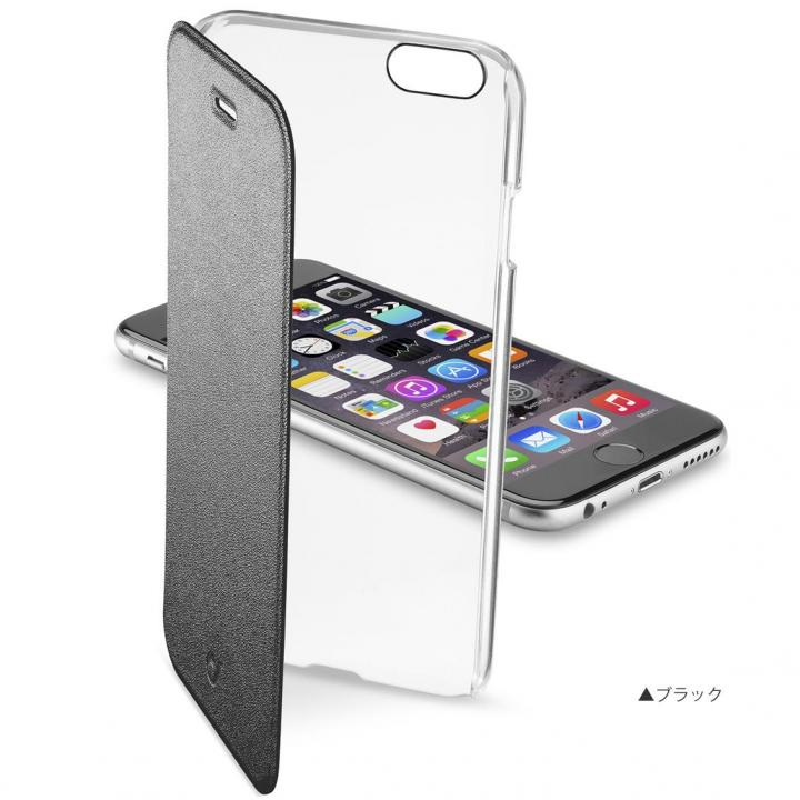 iPhone6s ケース 背面クリア手帳型ケース Clearbook ブラック iPhone 6s/6_0