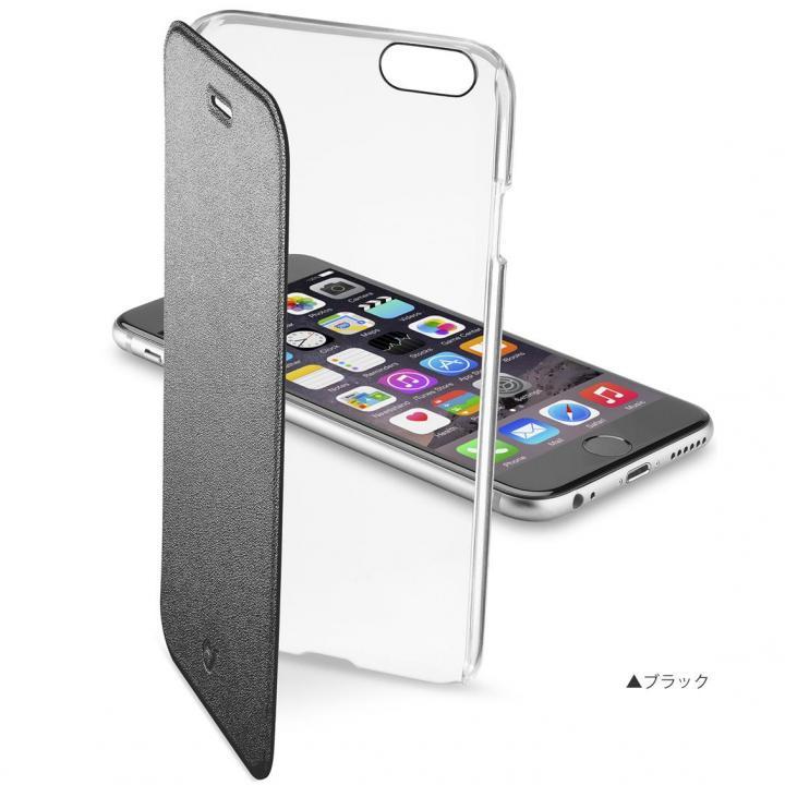 背面クリア手帳型ケース Clearbook ブラック iPhone 6s