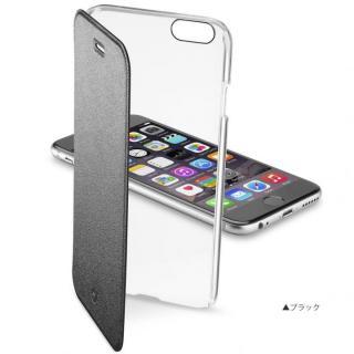 背面クリア手帳型ケース Clearbook ブラック iPhone 6s Plus