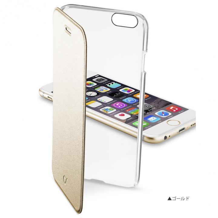 背面クリア手帳型ケース Clearbook ゴールド iPhone 6s Plus