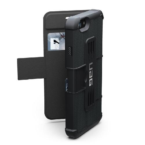 iPhone6 ケース タフさとデザイン性、機能性を兼ね備えた UAG 手帳型ケース ブラック iPhone 6ケース_0