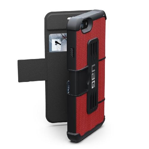 タフさとデザイン性、機能性を兼ね備えた UAG 手帳型ケース レッド iPhone 6ケース