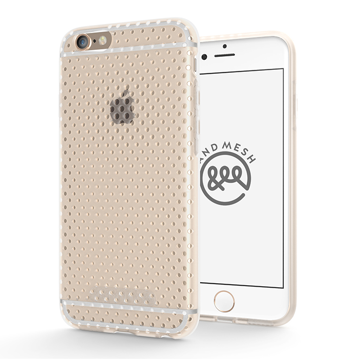 【iPhone6s/6ケース】エラストマー AndMesh MESH CASE クリア iPhone 6s/6ケース_0